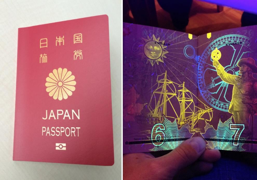 まさかのブラックライトを当てると…空港の人間の知らないパスポートに隠された秘密が凄すぎた…