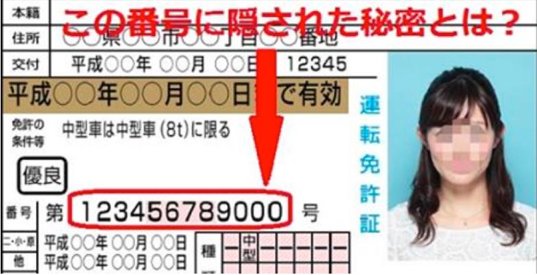【衝撃】この12桁の番号の意味を知っていましたか???免許証の知られざる秘密に硬直…