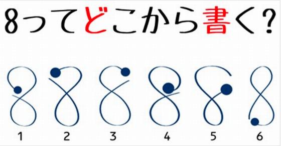 【※衝撃】数字の「8」を5人に1人が正しく書けていなかった!?間違えて覚えていたら恥ずかしいかも…あなたは大丈夫ですか?