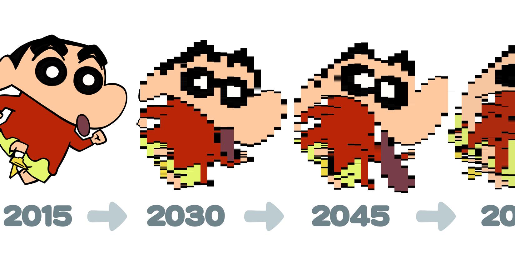 【閲覧注意!】200年後の「クレヨンしんちゃん」予想図が狂気の沙汰の件