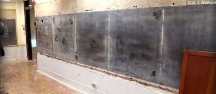 【ロマンだ】100歳の黒板にさようなら!取り外してみたらそこに小学校の秘密が眠っていた