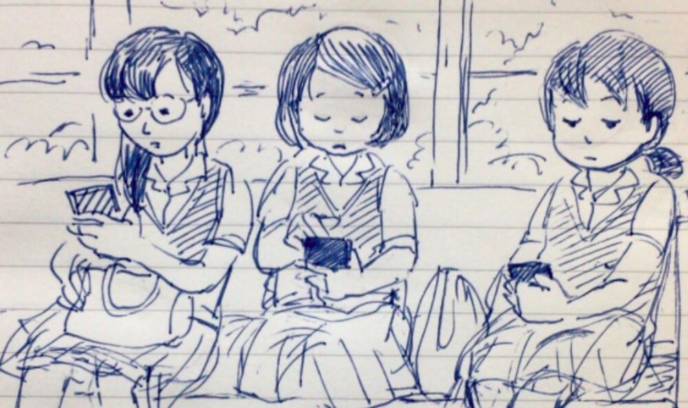 【必見】スマホを持たない女子高生が触っていたものは?「切なくて泣きそうになった」「数年前までやっていた」と共感の声!