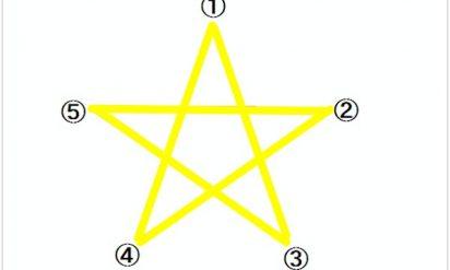 【必見】「星を書き始める場所」の心理テストが当たりすぎてヤバい!と話題!