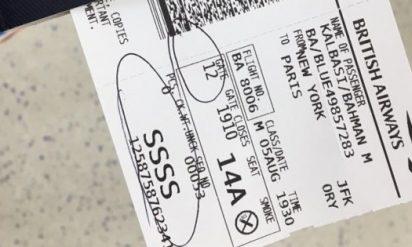 【必見】飛行機のチケットに「SSSS」と印刷されていたらヤバいことに‥