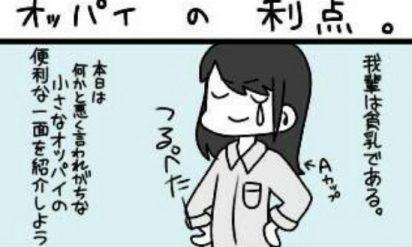 【女子は共感】巨乳VS貧乳!それぞれの利点を比べた漫画があるあるすぎてヤバい!!