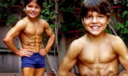 【衝撃】異常に筋肉が発達した世界一マッチョな8歳児!17年後の激変した姿がこちら‥