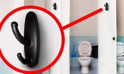 【衝撃】公共トイレにこの壁掛けフックがあったら要注意‥見つけたらすぐに110番!